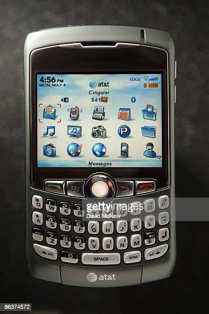 Blackberry Curve 8310 is seen in a photo illustration on May 4 2009 in Pasadena California With help from an aggressive promotional campaign the...