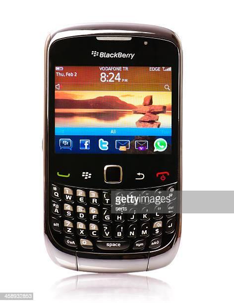 ブラックベリーのスマートフォン - オニキス ストックフォトと画像