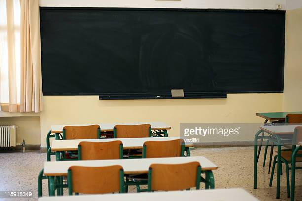 Blackboard and Benches