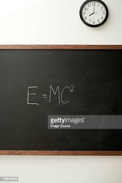 Blackboard and clock