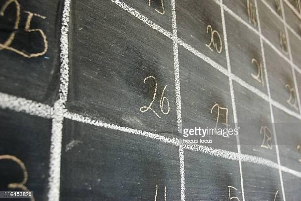 Tableau du calendrier