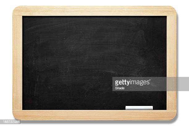 blackboard with clipping path - chalkboard stock photos and pictures