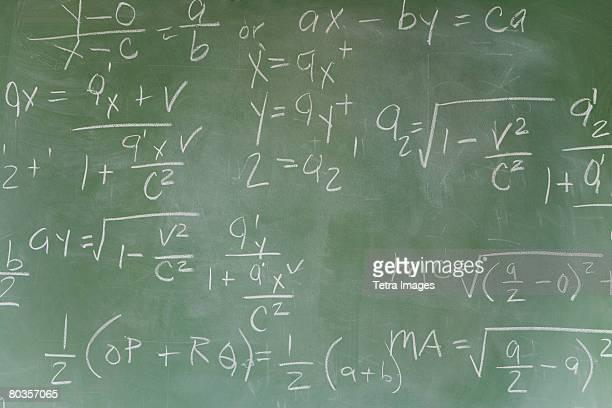 Blackboard with math equations