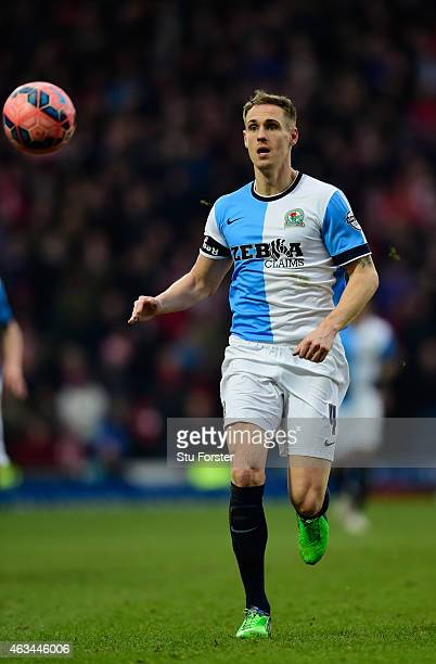 Blackburn captain Matt Kilgallon in action during the FA Cup Fifth round match between Blackburn Rovers and Stoke City at Ewood park on February 14...