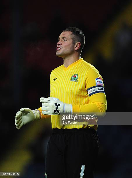 Blackburn keeper Paul Robinson in action during the npower Championship match between Blackburn Rovers and Cardiff City at Ewood park on December 7,...