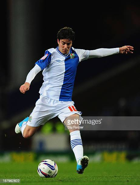 Blackburn player Mauro Formica in action during the npower Championship match between Blackburn Rovers and Cardiff City at Ewood park on December 7,...