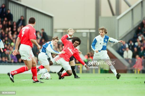 Blackburn Rovers 0-0 Middlesbrough, Premier league match at Ewood Park, Thursday 8th May 1997. Tim Sherwood, Blackburn Rovers, Player, Captain, in...