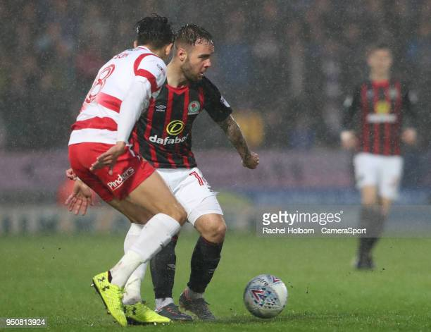 Blackburn Rovers' Adam Armstrong during the Sky Bet League One match between Doncaster Rovers and Blackburn Rovers at Keepmoat Stadium on April 24...