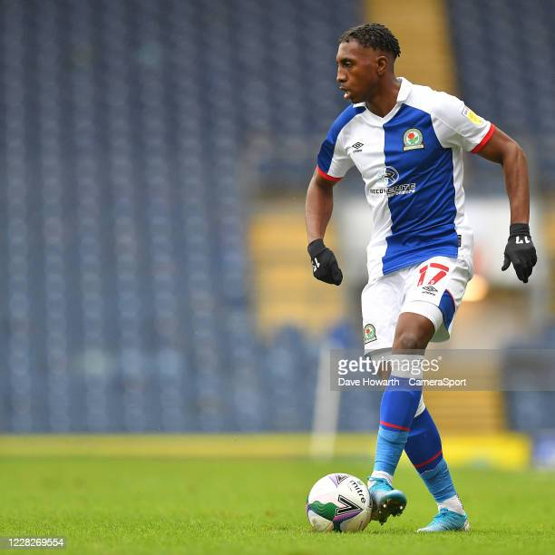 Blackburn Rovers' Amari'i Bell during the Carabao Cup First Round match between Blackburn Rovers and Doncaster Rovers at Ewood Park on August 29,...