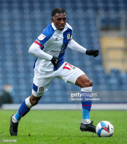 Blackburn Rovers' Amari'i Bell during the Sky Bet Championship match between Blackburn Rovers and Nottingham Forest at Ewood Park on October 17 2020...
