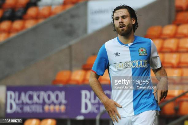 Blackburn Rovers' Ben Brereton celebrates scoring his side's second goal during the Pre-Season Friendly match between Blackpool and Blackburn Rovers...
