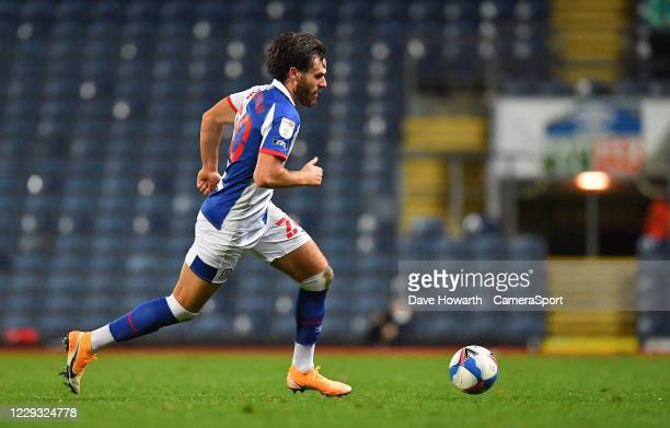 Blackburn Rovers' Ben Brereton during the Sky Bet Championship match between Blackburn Rovers and Reading at Ewood Park on October 27 2020 in...