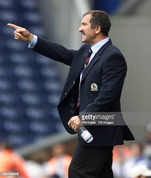 Blackburn Rovers boss Graeme Souness barks out orders as his side get off to a winning start by beating Crystal Palace in their Nationwide Division...