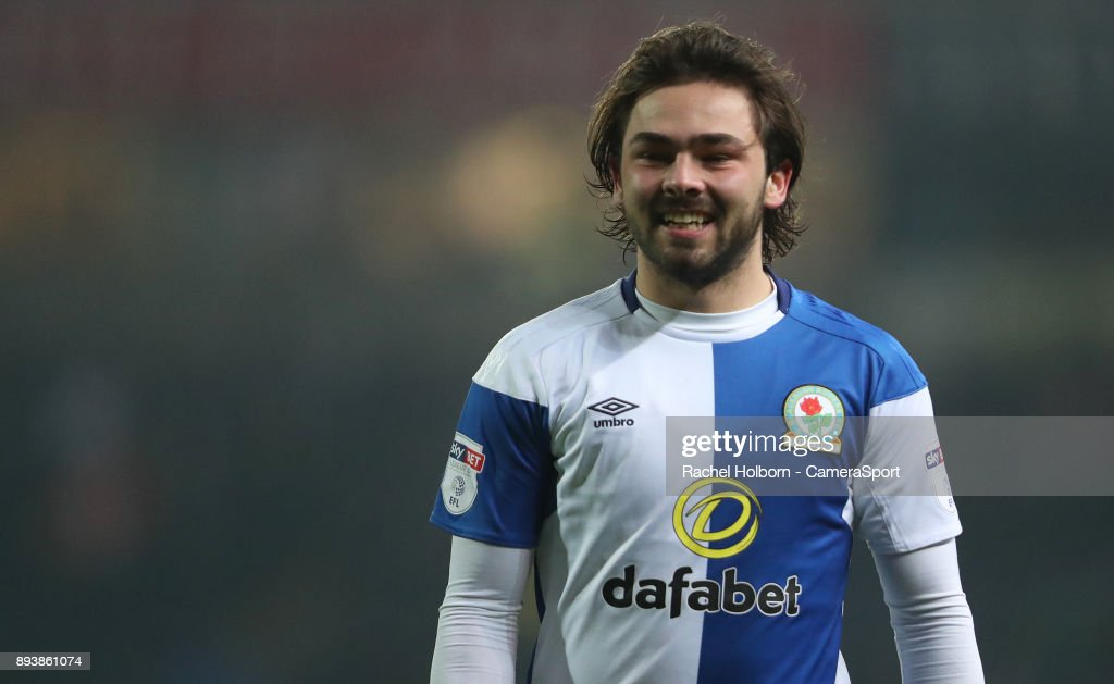 Blackburn Rovers' Bradley Dack during the Sky Bet League One match between Blackburn Rovers and Charlton Athletic at Ewood Park on December 16, 2017 in Blackburn, England.