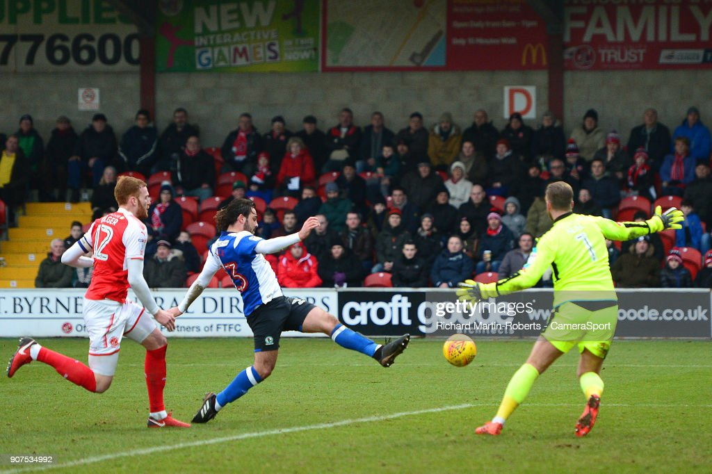 Fleetwood Town v Blackburn Rovers - Sky Bet League One