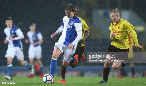 Blackburn Rovers Callum Wright during the FA Youth Cup Fourth Round match between Blackburn Rovers U18s and Watford U18s at Ewood Park on January 17...