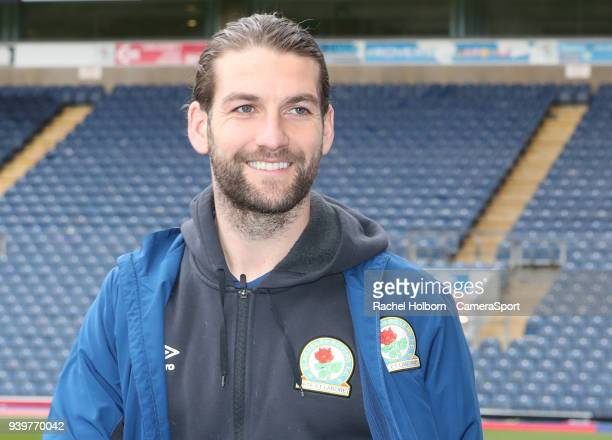 Blackburn Rovers' Charlie Mulgrew arrives at the ground during the Sky Bet League One match between Blackburn Rovers and Bradford City at Ewood Park...