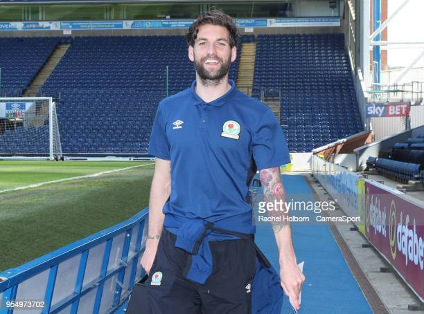 Blackburn Rovers' Charlie Mulgrew arrives at the groundduring the Sky Bet League One match between Blackburn Rovers and Oxford United at Ewood Park...