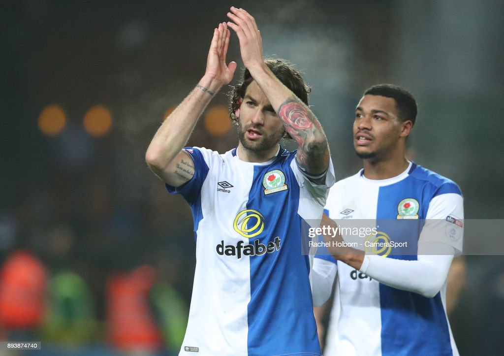 Blackburn Rovers' Charlie Mulgrew at the end of the game during the Sky Bet League One match between Blackburn Rovers and Charlton Athletic at Ewood Park on December 16, 2017 in Blackburn, England.