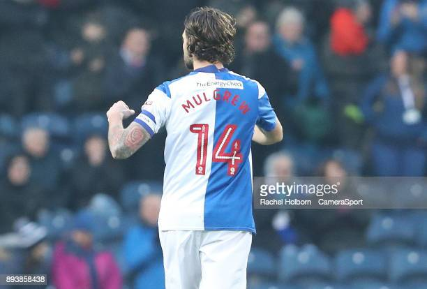 Blackburn Rovers' Charlie Mulgrew celebrates his sides first goal during the Sky Bet League One match between Blackburn Rovers and Charlton Athletic...