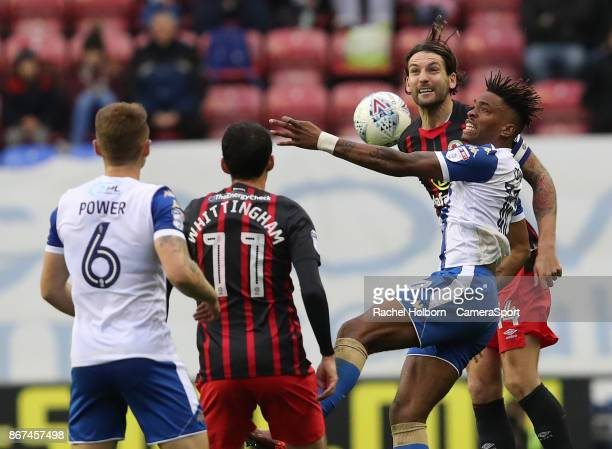 Blackburn Rovers' Charlie Mulgrew during the Sky Bet League One match between Wigan Athletic and Blackburn Rovers at DW Stadium on October 28 2017 in...