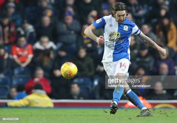 Blackburn Rovers' Charlie Mulgrew during the Sky Bet League One match between Blackburn Rovers and Shrewsbury Town at Ewood Park on January 13 2018...