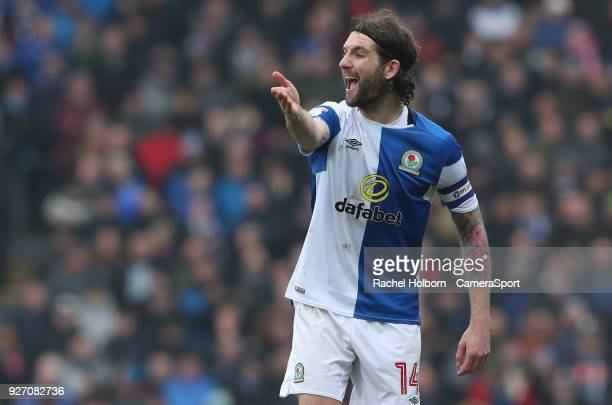 Blackburn Rovers' Charlie Mulgrew during the Sky Bet League One match between Blackburn Rovers and Wigan Athletic at Ewood Park on March 4 2018 in...