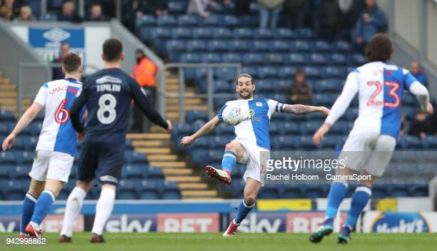 Blackburn Rovers' Charlie Mulgrew during the Sky Bet League One match between Blackburn Rovers and Southend United at Ewood Park on April 7 2018 in...