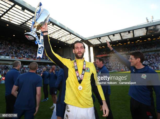 Blackburn Rovers' Charlie Mulgrew during the Sky Bet League One match between Blackburn Rovers and Oxford United at Ewood Park on May 5 2018 in...