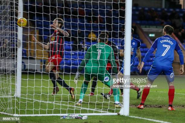 Blackburn Rovers' Charlie Mulgrew scores his side's first goal during the Sky Bet League One match between Peterborough United and Blackburn Rovers...