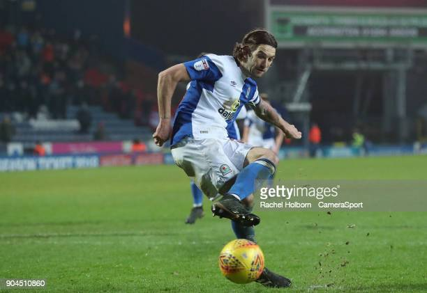 Blackburn Rovers' Charlie Mulgrew scores his side's third goal from the penalty spotduring the Sky Bet League One match between Blackburn Rovers and...