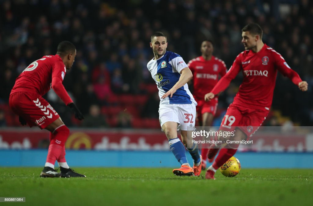 Blackburn Rovers' Craig Conway during the Sky Bet League One match between Blackburn Rovers and Charlton Athletic at Ewood Park on December 16, 2017 in Blackburn, England.