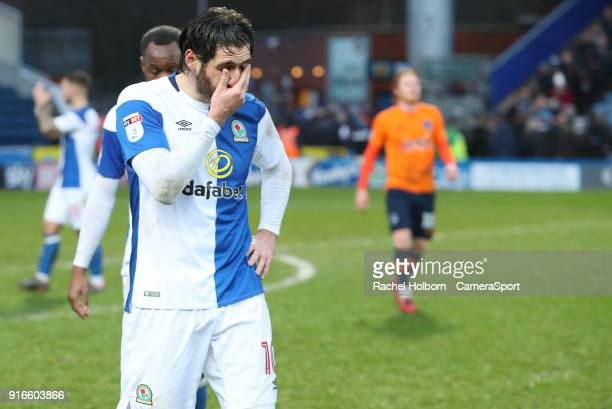 Blackburn Rovers' Danny Graham at the end of the game during the Sky Bet League One match between Blackburn Rovers and Oldham Athletic at Ewood Park...