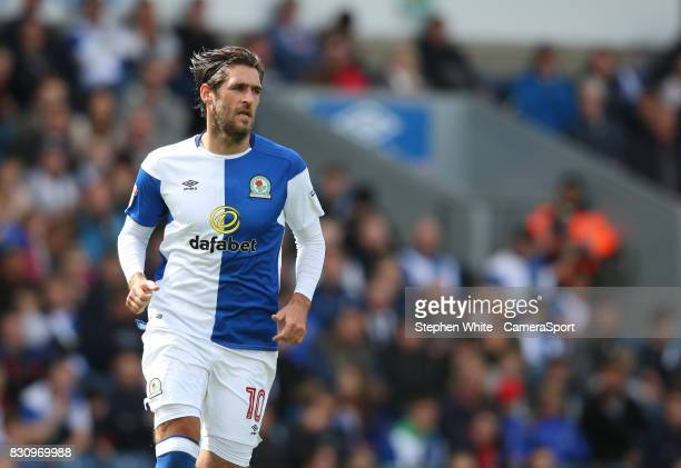 Blackburn Rovers' Danny Graham during the Sky Bet League One match between Blackburn Rovers and Doncaster Rovers at Ewood Park on August 12 2017 in...