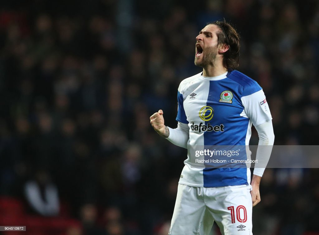 Blackburn Rovers' Danny Graham during the Sky Bet League One match between Blackburn Rovers and Shrewsbury Town at Ewood Park on January 13, 2018 in Blackburn, England.