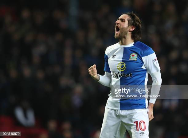 Blackburn Rovers' Danny Graham during the Sky Bet League One match between Blackburn Rovers and Shrewsbury Town at Ewood Park on January 13 2018 in...