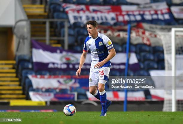 Blackburn Rovers' Darragh Lenihan during the Sky Bet Championship match between Blackburn Rovers and Reading at Ewood Park on October 27 2020 in...