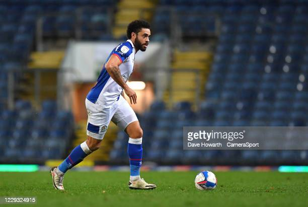 Blackburn Rovers' Derrick Williams during the Sky Bet Championship match between Blackburn Rovers and Reading at Ewood Park on October 27 2020 in...
