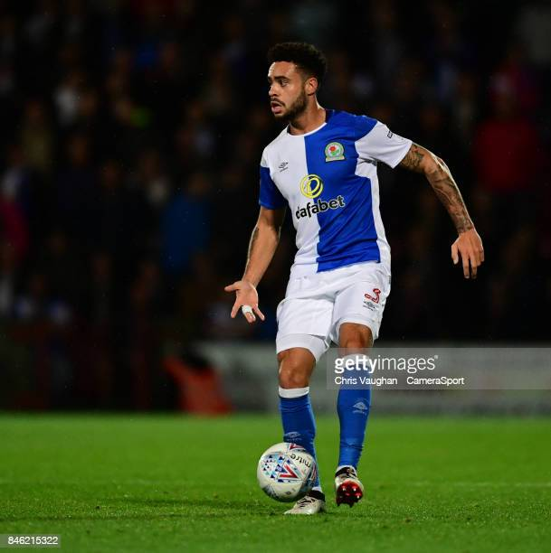 Blackburn Rovers' Derrick Williams during the Sky Bet League One match between Scunthorpe United and Blackburn Rovers at Glanford Park on September...