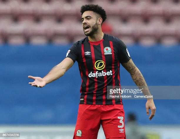 Blackburn Rovers' Derrick Williams during the Sky Bet League One match between Wigan Athletic and Blackburn Rovers at DW Stadium on October 28 2017...