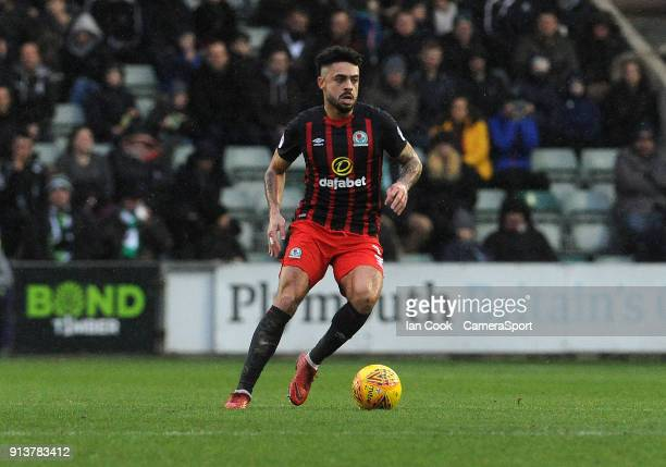 Blackburn Rovers' Derrick Williams during the Sky Bet League One match between Plymouth Argyle and Blackburn Rovers at Home Park on February 3 2018...