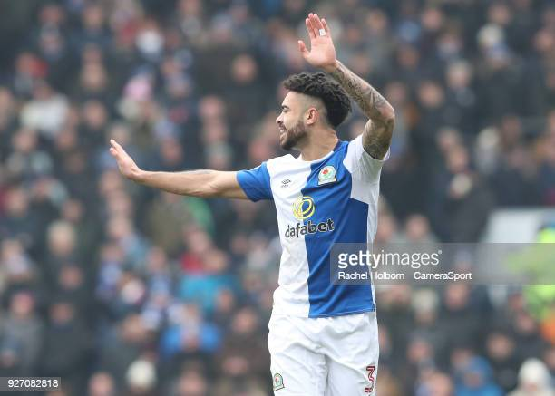Blackburn Rovers' Derrick Williams during the Sky Bet League One match between Blackburn Rovers and Wigan Athletic at Ewood Park on March 4 2018 in...