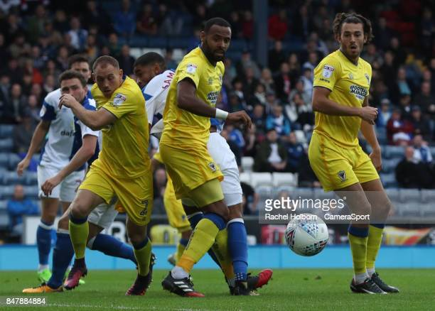 Blackburn Rovers' Dominic Samuel during the Sky Bet League One match between Blackburn Rovers and AFC Wimbledon at Ewood Park on September 16 2017 in...