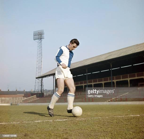 Blackburn Rovers forward Frederick Pickering pictured at Ewood Park circa 1963 in Blackburn, England.