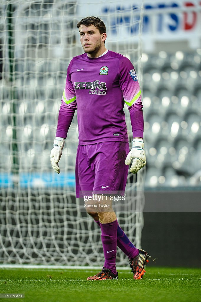 Blackburn Rovers Goalkeeper Ryan Crump during the Under 21 Premier League match between Newcastle United and Blackburn Rovers at St. James' Park on May 5, 2015, in Newcastle upon Tyne, England, United Kingdom.