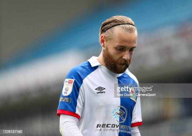 Blackburn Rovers' Harry Chapman during the Sky Bet Championship match between Blackburn Rovers and Nottingham Forest at Ewood Park on October 17 2020...