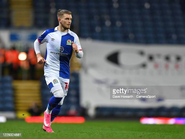 Blackburn Rovers' Harvey Elliott during the Sky Bet Championship match between Blackburn Rovers and Reading at Ewood Park on October 27 2020 in...
