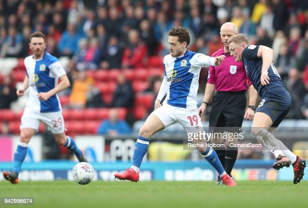 Blackburn Rovers Jack Payne during the Sky Bet League One match between Blackburn Rovers and Southend United at Ewood Park on April 7 2018 in...