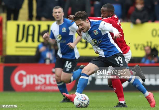 Blackburn Rovers' Jack Payne during the Sky Bet League One match between Charlton Athletic and Blackburn Rovers at The Valley on April 28 2018 in...