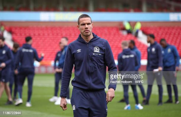 Blackburn Rovers' Jack Rodwell ahead of the Sky Bet Championship match between Nottingham Forest and Blackburn Rovers at City Ground on April 13,...